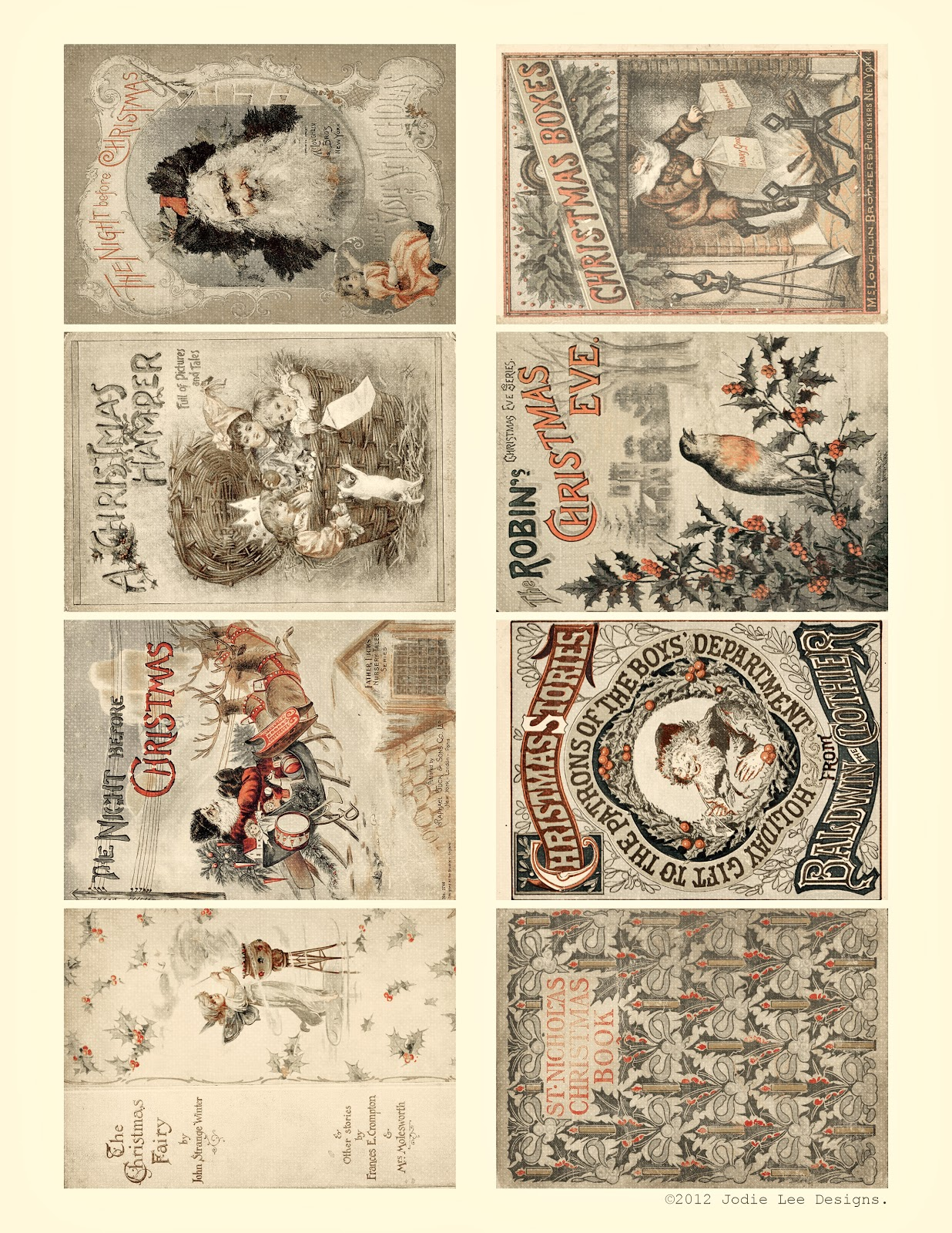 Cartoline Di Natale Vintage Da Stampare.Auguri Di Natale Vintage Elisa Bassanelli